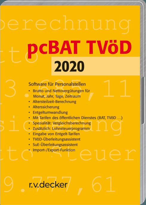 pcBAT TVöD | Software für Personalstellen | rehm. Beste Anwort