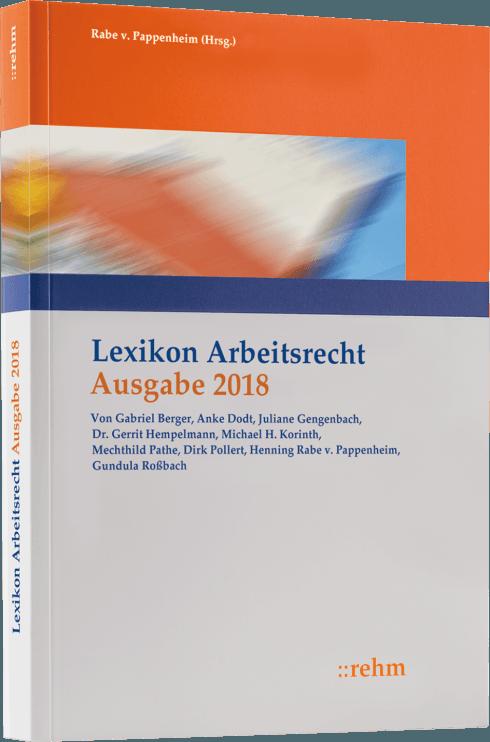 Lexikon Arbeitsrecht 2018 Softcover Lohnsteuer Helfer Und